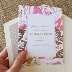 watercolor floral save the dates by hello tenfold
