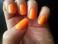 Models Own Hed Kandi Beach Party Neon Orange Nails