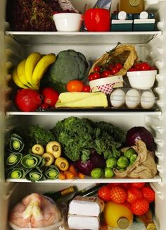 10 Foods That Reduce Anxiety  This is how I want my fridge to look like!