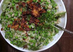 Quinoa & Peas (2x) with Citrus Dressing #vegan #glutenfree #soyfree