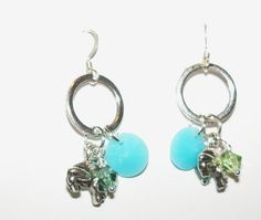 Little Frog Charm Swarovski Crystal Dangle by Justatishdesigns, $15.00