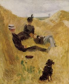 Vincent van Gogh — artist-lautrec: Party in the Country, 1882,...