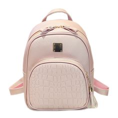 Alligator Pattern Girl School Bags For Teenagers  Women Small Backpack Black Leather Women's Backpacks Fashion Female Backpacks