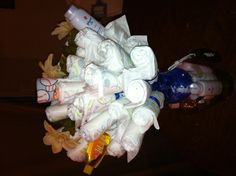 Diaper bouquet for my sis-n-law babyshower.