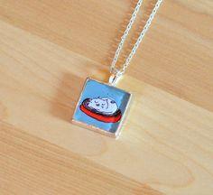 Cat Nap Necklace by jamieshelman on Etsy