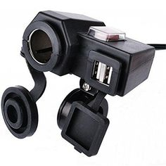 Cars Accessories :   Illustration   Description   BreaDeep 5V/3.1A Dual USB Output Motorcycle Handlebar Cigarette Lighter Socket Power Port Adapter Charger Outlet with Switch Control Handle Bar Clamp Bracket – Black *** Read more reviews of the product by visiting the link on the image....