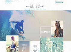 Surf Shop Template - colors