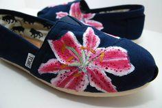 Stargazer Lily - Custom TOMS Shoes