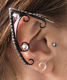 Ear cuffs elf ears handmade wirewrapped by Wiredesignjewelry