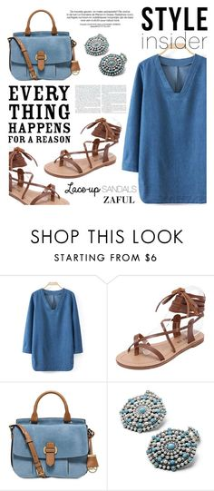 """""""Strapped In: Lace-Up Sandals"""" by helenevlacho ❤ liked on Polyvore featuring MICHAEL Michael Kors, contestentry, laceupsandals, styleinsider and zaful"""