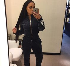 black and white Adidas jumpsuit + white sneakers Urban Outfits, Fashion Outfits, Women's Fashion, Heather Sanders, Beautiful Outfits, Cute Outfits, Adidas Outfit, Adidas Jumpsuit, Adidas Shoes