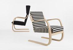Chaise contemporaine / en bouleau / en bois laqué / par Alvar Aalto - 42 - Artek