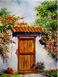 Costumbrista Landscape Designer: Watercolors Paintings Landscapes Painted in Watercolor … - Painting Watercolour Painting, Painting & Drawing, Drawing Drawing, Landscape Art, Landscape Paintings, Oil Paintings, Mexican Artwork, Mexico Art, Southwest Art