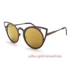 ROYAL GIRL 2017 New Women Sunglasses Vintage Cat Eye Sun glasses Metal Eyeglasses Frames Mirror Shades Sexy Sunnies ss309  C13