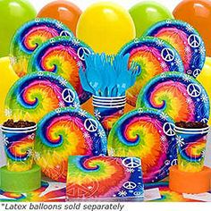 60s Party - Tie Dye 1960s Birthday Party Supplies, Decorations & Ideas at Birthday in a Box