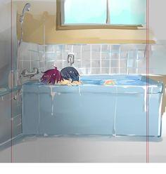 Free! ~~ Love in the tub :: Rin x Haru