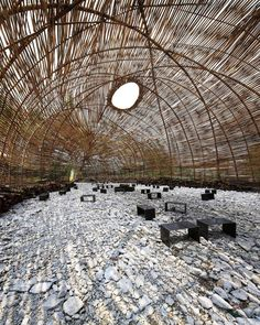 "Bamboo Cocoon, Taipei: ""in #taipeicity, #taiwan, marco casagrande constructed a #bamboo 'cocoon'"