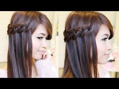 M Easy Knotted Waterfall Braid Hairstyle | Hair Tutorial - YouTube