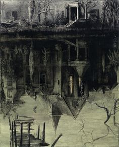 Santiago Caruso: The Spectral House / Ink and scratching over paper / 32cm x 24cm / 2013