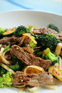 Peppered Beef and Green Vegetable Stir-fry