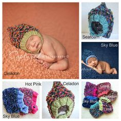 Baby Boy Hat knitted boy hat Baby Girl Hat Newborn Photo Prop Hat infant hat, coming home outfit, Chinstrap Pixie Bonnet READY To Ship Hat