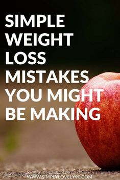 Kickstart your weight loss goals by watching out for these easy mistakes. #weightloss #fitness #health #weightlossjourney