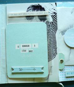 Un mini album (signé Sandrine) inspiré d'un tuto freebie offert sur le blog kesi'art !
