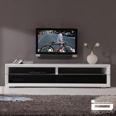 Pickup + Off on Executive Remix TV Stand for TVs up to 78 B-Modern - Good purchase storage furniture White Tv Stands, Black Tv Stand, Cool Tv Stands, Entertainment Furniture, Home Entertainment, 80 Inch Tvs, Contemporary Tv Stands, Tv Stand And Entertainment Center, Modern Tv Units