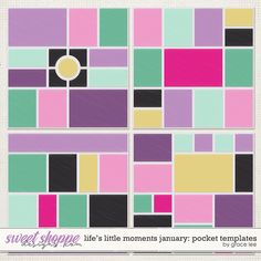 Life's Little Moments January Pocket Templates by Grace Lee