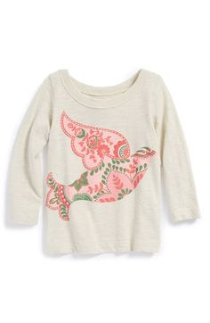 Free shipping and returns on Peek 'Bird' Graphic Tee (Toddler Girls, Little Girls & Big Girls) at Nordstrom.com. Brightly patterned bird graphics take flight on a long-sleeve tee cut from soft, slubbed cotton.