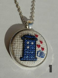 Doctor Who 's Heartbeat TARDIS Cross Stitch by TheLostFlower, $17.00