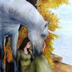 Autumn at the Lake Legend of the unicorn