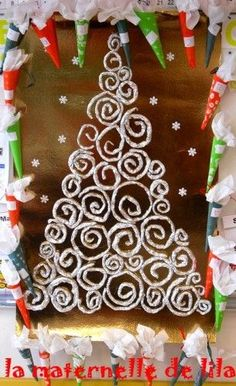 Klimt aluminum foil tree. (I don't know why)