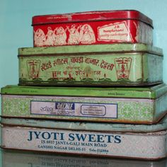 Vintage Indian Tins