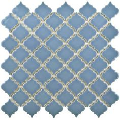 Buy the Affinity Tile Light Blue Direct. Shop for the Affinity Tile Light Blue Antaeus - x Arabesque Mosaic Floor and Wall Tile - Smooth Porcelain Visual - Sold by Carton SF/Carton) and save. Mosaic Wall, Mosaic Tiles, Wall Tiles, Lantern Designs, Blue Tiles, Tangier, Color Tile, Stone Tiles, Porcelain Tile