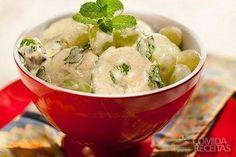 Receita de Salada de pepino com iogurte e café em receitas de saladas, veja essa e outras receitas aqui!