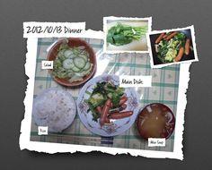 For Dinner on 13/Oct/2012