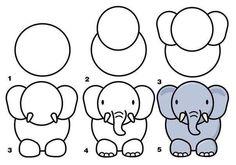 Como dibujar un Elefante