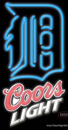 Coors Light Detroit Tigers MLB Real Neon Glass Tube Neon Sign,Affordable and durable,Made in USA,if you want to get it ,please click the visit button or go to my website,you can get everything neon from us. based in CA USA, free shipping and 1 year warranty , 24/7 service