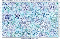 Free Printable Hand Drawn Snowflake Maze. Easily downloadable and printable PDF format. Great Mazes for both kids & adults very challenging but fun. Craft Activities For Kids, Winter Theme, Maze, Hand Drawn, Snowflakes, Free Printables, How To Draw Hands, Pdf, Quilts