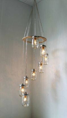 DIY Jar Chandalier