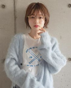 ウェットショート/ミルクティーベージュ in 2020 Ulzzang Short Hair, Asian Short Hair, Asian Hair, Girl Short Hair, Short Hair Cuts For Women, Short Hair Styles, Mid Waist Bikini, Cut My Hair, Pixie Hairstyles