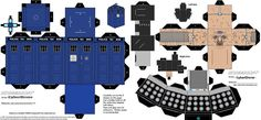 Doctor Who Paper Crafts (downloadable!)  Use for decorations & can use the Tardis for a treat/candy box for take-home.