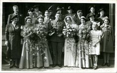 Unidentified wedding group, Derbyshire, c. early 1940s