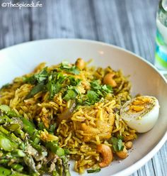 Indian Inspired Gluten-Free Cooking: Chicken and Rice Pilaf with Asparagus with Ginger | The Spiced Life