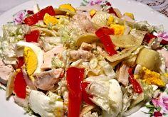 Recept : Kuřecí salát V.   ReceptyOnLine.cz - kuchařka, recepty a inspirace Cobb Salad, Potato Salad, Potatoes, Chicken, Ethnic Recipes, Food, Diet, Salads, Cooking