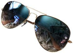7452e94946 Ray-Ban Gradient Blue Gold Frame Sunglasses from  RicardoDavid on Tradesy  Sunglass Frames