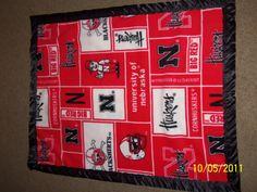 Nebraska Cornhuskers Handmade Fleece Blanket by loveineverystitch, $16.99