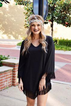 Black Fringe Dress – 2 Loops