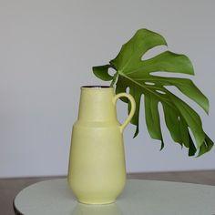 Vintage 60er Jahre Carstens Tönnieshof Keramikvase / vintage vase, limette green by LeFlair via DaWanda.com